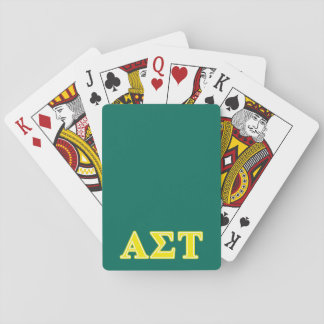 Alpha Sigma Tau Yellow Letters Playing Cards