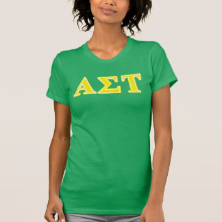 Alpha Sigma Tau Yellow Letters T-Shirt