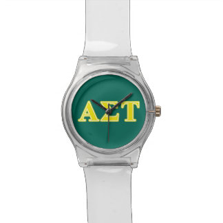 Alpha Sigma Tau Yellow Letters Watch