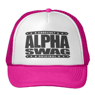 ALPHA SWAG - Positivity Destroys Haters, Black Trucker Hat