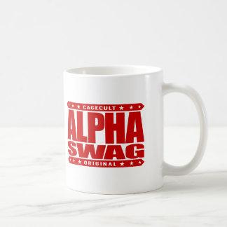 ALPHA SWAG - Positivity Destroys Haters, Red Basic White Mug