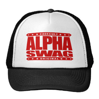 ALPHA SWAG - Positivity Destroys Haters, Red Trucker Hat