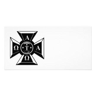 Alpha Tau Omega Badge Black & White Card