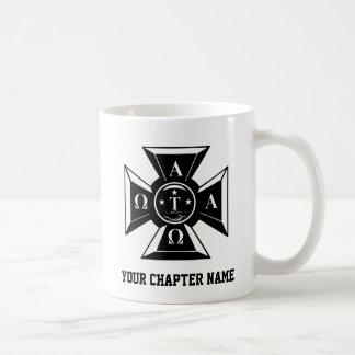 Alpha Tau Omega Badge Black & White Coffee Mug