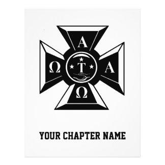 Alpha Tau Omega Badge Black & White Flyer