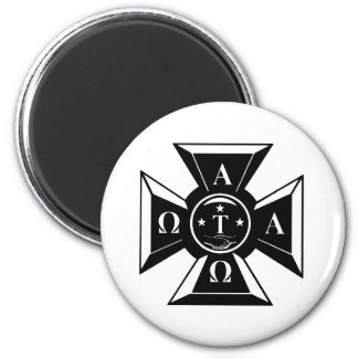 Alpha Tau Omega Badge Black & White Magnet