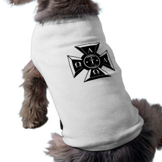 Alpha Tau Omega Badge Black & White Shirt
