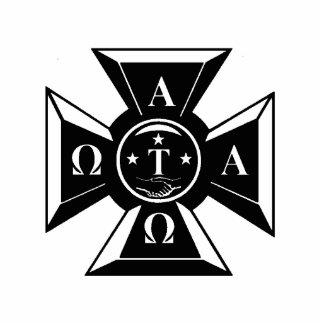 Alpha Tau Omega Badge Black & White Standing Photo Sculpture
