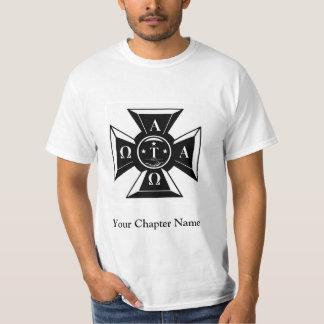 Alpha Tau Omega Badge Black & White T-Shirt