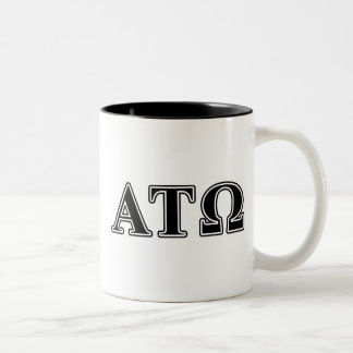 Alpha Tau Omega Black Letters Two-Tone Coffee Mug