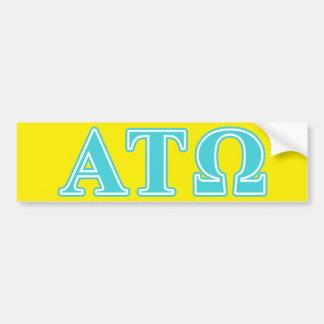 Alpha Tau Omega Blue Letters Bumper Sticker
