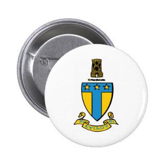 Alpha Tau Omega Color Crest 6 Cm Round Badge