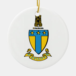 Alpha Tau Omega Color Crest Christmas Ornament