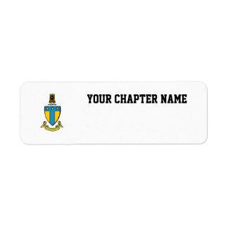 Alpha Tau Omega Color Crest Return Address Label
