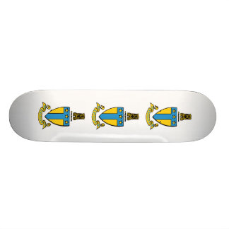 Alpha Tau Omega Color Crest Skateboard