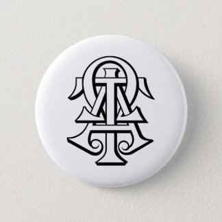 Alpha Tau Omega Interlocked Letters 6 Cm Round Badge