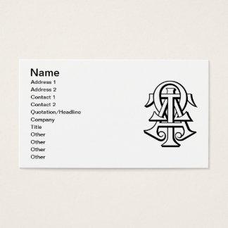 Alpha Tau Omega Interlocked Letters Business Card