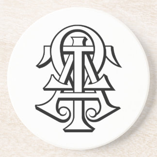 Alpha Tau Omega Interlocked Letters Coaster