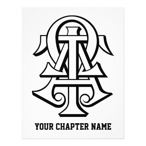 Alpha Tau Omega Interlocked Letters Flyer