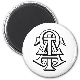Alpha Tau Omega Interlocked Letters Magnet