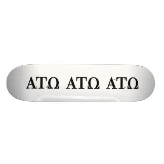 Alpha Tau Omega Letters 21.6 Cm Old School Skateboard Deck