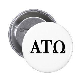 Alpha Tau Omega Letters 6 Cm Round Badge