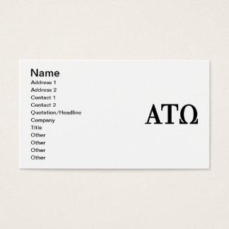 Alpha Tau Omega Letters Business Card