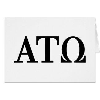 Alpha Tau Omega Letters Card
