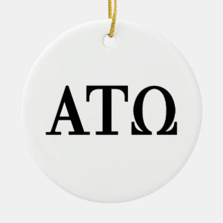 Alpha Tau Omega Letters Christmas Ornament