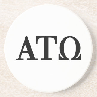 Alpha Tau Omega Letters Coaster