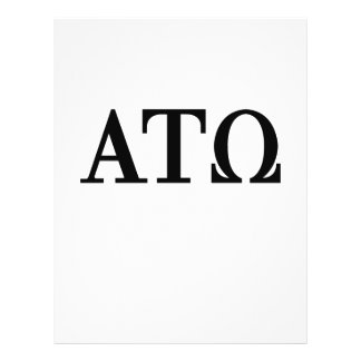 Alpha Tau Omega Letters 21.5 Cm X 28 Cm Flyer
