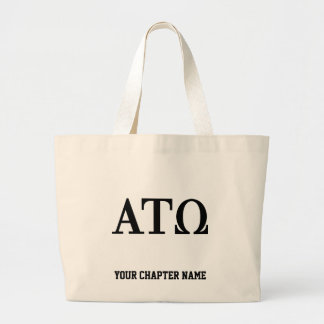 Alpha Tau Omega Letters Large Tote Bag