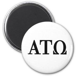 Alpha Tau Omega Letters Magnet