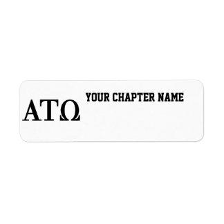 Alpha Tau Omega Letters Return Address Label