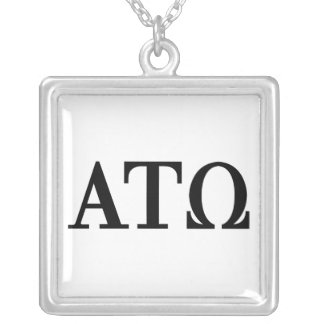 Alpha Tau Omega Letters Silver Plated Necklace