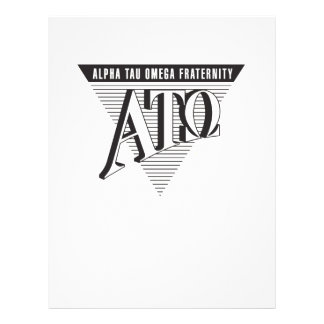 Alpha Tau Omega Name and Letters 21.5 Cm X 28 Cm Flyer