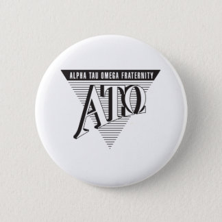 Alpha Tau Omega Name and Letters 6 Cm Round Badge