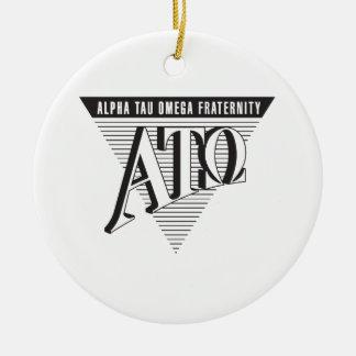 Alpha Tau Omega Name and Letters Christmas Ornament