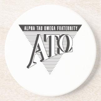 Alpha Tau Omega Name and Letters Coaster