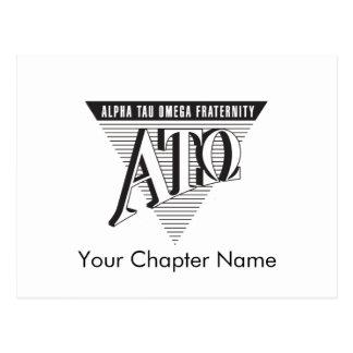 Alpha Tau Omega Name and Letters Postcard