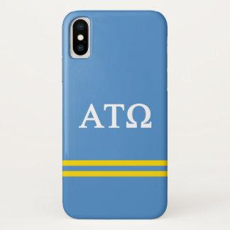 Alpha Tau Omega | Sport Stripe iPhone X Case