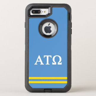 Alpha Tau Omega | Sport Stripe OtterBox Defender iPhone 8 Plus/7 Plus Case