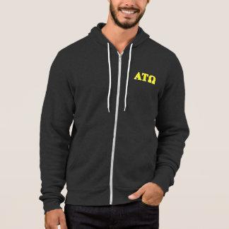 Alpha Tau Omega Yellow Letters Hoodie