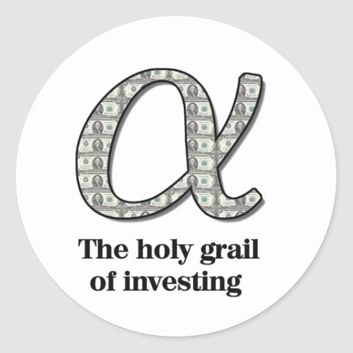 Alpha  - The holy grail of investing Sticker