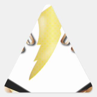 alpha triangle sticker