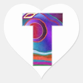 ALPHA TTT Alphabet Identity ID Initial Name Refer Heart Sticker