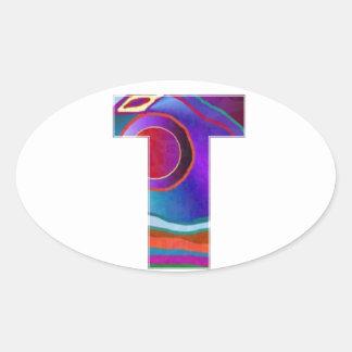 ALPHA TTT Alphabet Identity ID Initial Name Refer Oval Sticker
