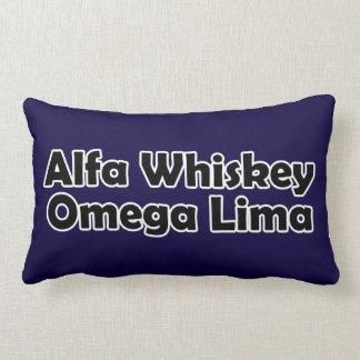 Alpha Whiskey omega Lima AWOL Cushions