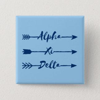 Alpha Xi Delta Arrow 15 Cm Square Badge