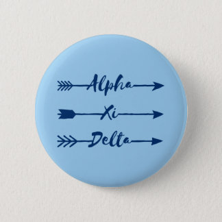 Alpha Xi Delta Arrow 6 Cm Round Badge